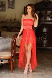 rochie de seara scurta in fata si lunga in spate