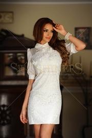 rochii de seara scurte albe