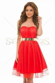 rochii rosii de seara 2017