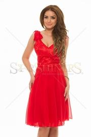rochii rosii de seara ieftine