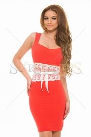 rochii rosii de seara preturi