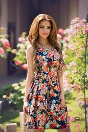 rochii de seara cu imprimeu floral