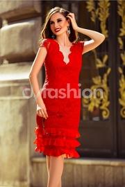 rochii rosii din dantela pentru nunta