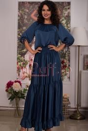 rochie bleumarin de vara lunga