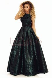 rochie de seara lunga din tafta cu funda la spate