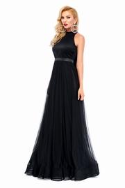 rochie de seara neagra cu umeri goi