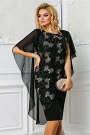 rochie de seara scurta cu broderie eleganta