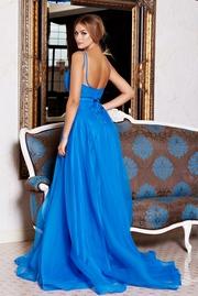 rochie lunga de ocazie realizata din voal
