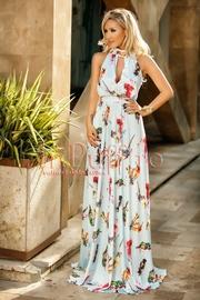 rochie lunga de vara cu imprimeu