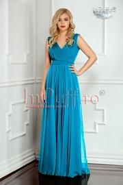 rochie lunga eleganta de seara turcoaz