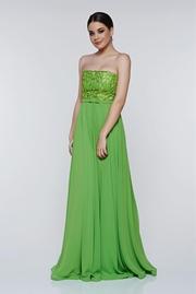 rochie lunga eleganta din voal aplicatii de dantela