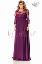 rochie lunga eleganta mov de seara