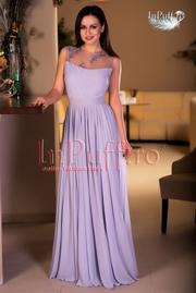 rochie lunga gri de seara
