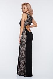 rochie lunga neagra sirena de seara lunga din dantela