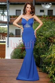 rochie lunga sirena albastra