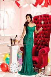 rochie lunga verde sirena
