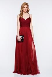 rochie lunga visinie de lux tip corset din tul captusita pe interior
