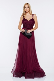 rochie lunga visinie de lux tip corset din tul