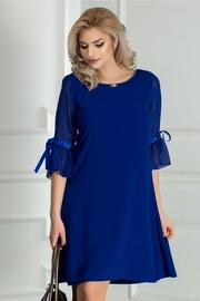 rochie scurta albastra eleganta croi larg