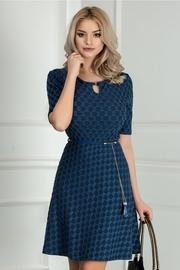 rochie scurta albastra in clos