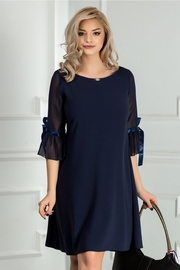 rochie scurta bleumarin eleganta croi larg
