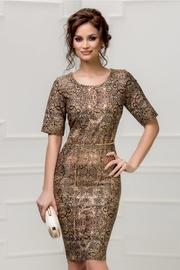 rochie scurta de ocazie cu imprimeu bronz