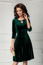 rochie scurta de ocazie din catifea verde