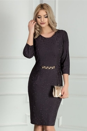 rochie scurta gri de ocazie eleganta