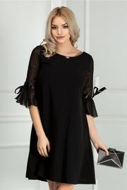rochie scurta neagra eleganta croi larg