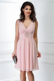 rochie scurta roz pudra de seara