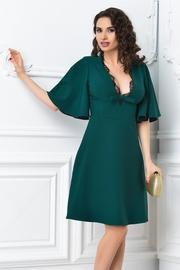 rochie scurta verde de ocazie cu decolteu