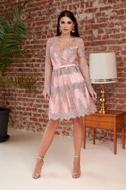rochii de seara elegante roz pal