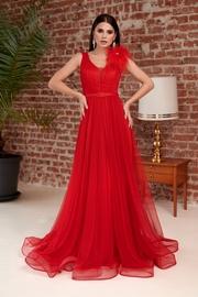 rochii de seara lungi elegante rosii