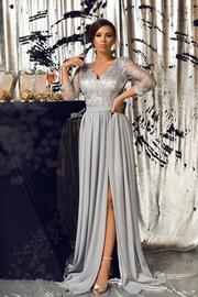 rochii elegante de seara argintii